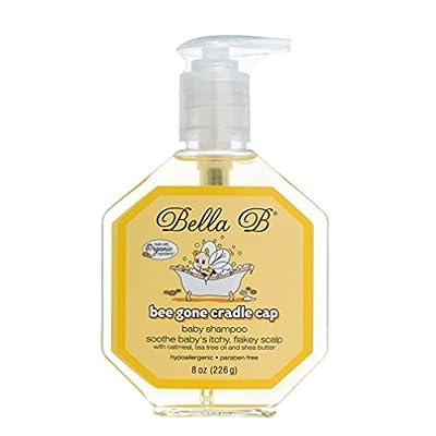 Bella B Bee Gone Cradle Cap Baby Shampoo 8 oz - Natural Shampoo - Dry Scalp Shampoo - Cradle Cap Shampoo For Babies - Cradle Cap Treatment For Babies - Organic Baby Shampoo- Natural Baby Shampoo