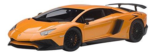 AUTOart- Lamborghini Aventador LP750-4 SV-2015-Echelle 1/18, 74557, Orange