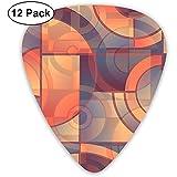 Klassische Plektren Geometrie Muster Plektren Instrument Standard Bass 12er Pack