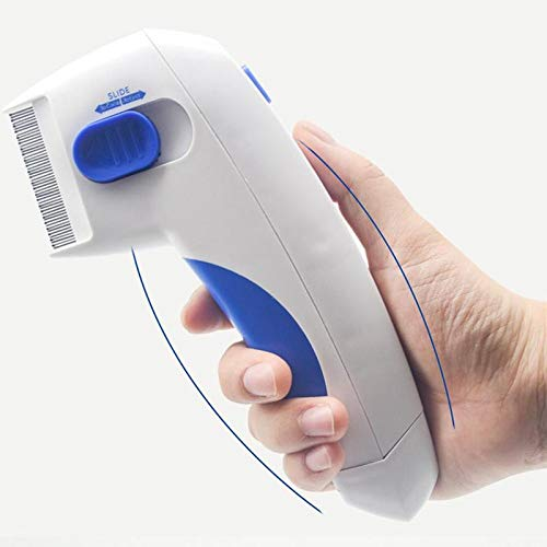 JUILE YUAN Pet Electric Flea Comb - Flea Doctor As Seen On TV Perfect for Dogs and Cats No Batteries and Chemicals for Fleas Ticks Grooming Removal Tools