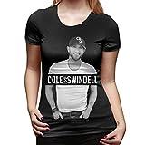 Denise K Steinbach Cole Swindell T Shirt Women's Cotton Fashion Sports Casual Round Neck Short Sleeve Tees XL Black