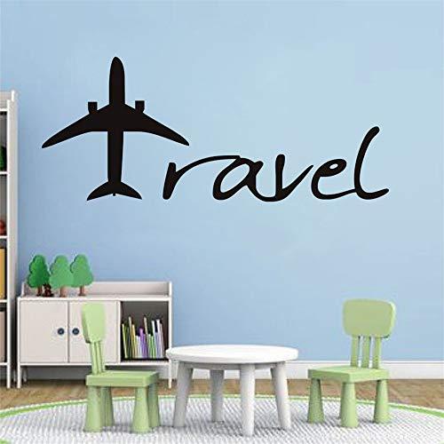 stickers muraux Cartoon Aircraft Travel Letters Design Baby Nursery Bureau de la chambre des enfants
