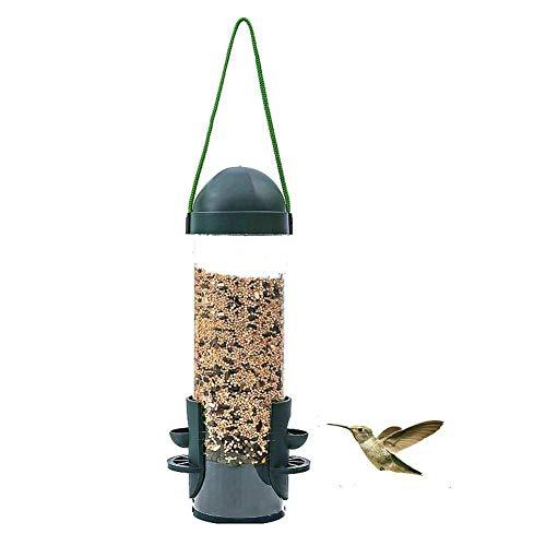 HOTEU Home Squirrel Proof Bird Feeder Tables Outdoor Garden Hanging Wild Bird Feeder Hanging Perches Station Accessories