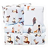 Central 23 - Trendy Wrapping Paper for Women - Dog Mum - Sausage Dogs - Dachshund - 6 Gift Wrap Sheets - Birthday Wrap for Her - Recyclable