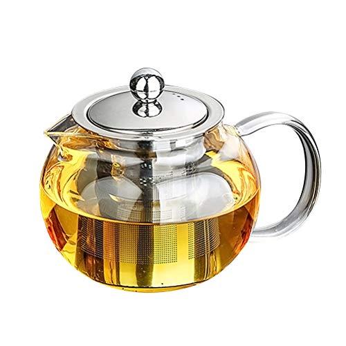 bestonzon hitzebeständiges Glas Teekanne High Borosilikat Loose Leaf Teekanne mit Edelstahl-Teesieb 1300ml