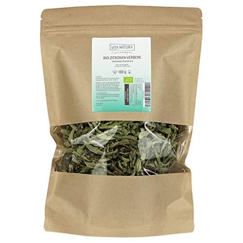 Vita Natura Zitronenverbene Tee, Duftendes Eisenkraut, Bio, 1er Pack (1 x 100 g)