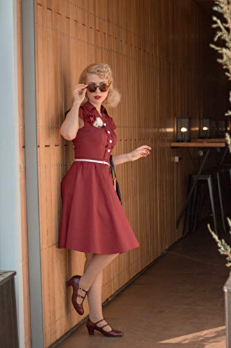 WedTrend Damen 50er Vintage Retro Rockabilly Swing Kleid Kurzer Ärmel Cocktailkleider WTP10007ForestGreenM - 4