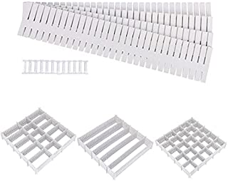 DaiWeier divisores de cajones 24 Piezas, Rejilla de cajones, plástico Organizador de cajones, Divisor de Cajones Ajustabl...