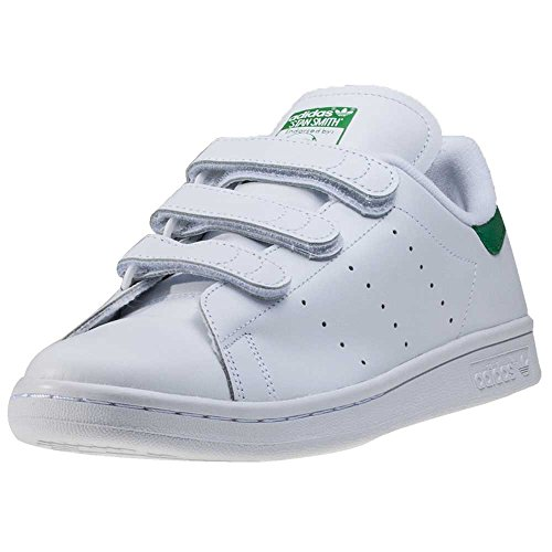 adidas Originals Stan Smith CF, Baskets Hommes, Cloud White/Green/Green, 37 1/3 EU