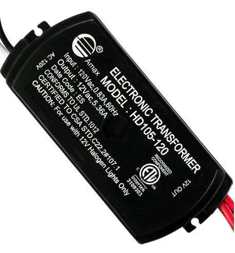 Halogen/Xenon Electronic Transformer 105 Watt Max output 120 Volt Input / 12 Volt Output Potted Transformer