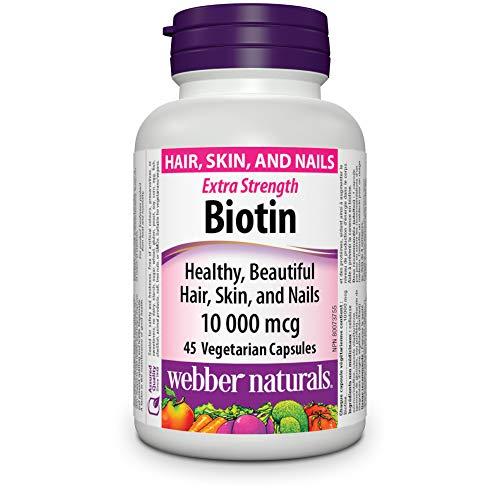 Webber Naturals Biotine 10 000 mcg, 45 pièces