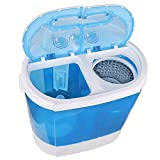 HomGarden 10lbs Portable Washing Machine with Twin Tub Electric Compact Washing Machine Mini Laundry w/Washer&Spinner, Gravity Drain Pump and Drain Hose