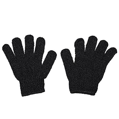 Beaupretty exfoliant gants de bain douche gommage gant corps spa massage gant peau morte remover cellules du visage gants 2pcs