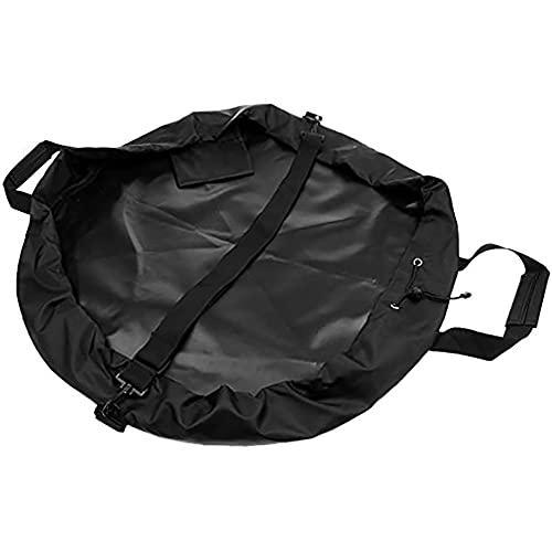 Prasacco Bolsa de almacenamiento para traje de playa, alfombrilla de repuesto para traje de neopreno para ropa de buceo, impermeable, portátil, tela Oxford negra