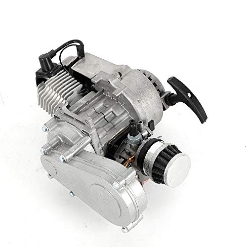 Engine Motor 2 Stroke 49cc - High Performance Start Engine Air Filter Gear Box for Mini Pocket Dirt Bike Quad Minimoto Scooter ATV