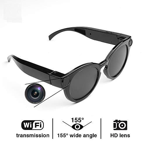 Cámara inteligente Wifi Gafas Cámara espía Cámara de grabación wifi HD 1080P para aula/reunión/viaje Adecuado para teléfono/iOS/Android