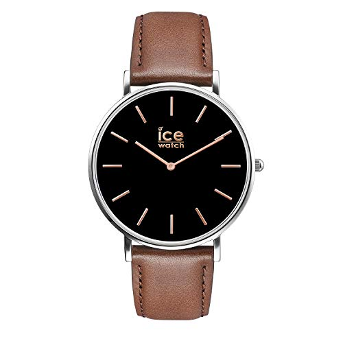 Ice-Watch - CITY classic Brown rose-gold - Men's wristwatch with leather strap - 016229 (Medium)