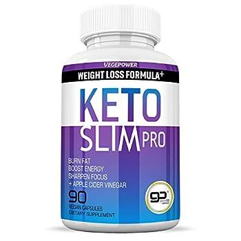 Keto Diet Pills-Fast Slim Pro for Easy ketosis 90 Capsules-Burn Fat Control Weight 4 in 1 Apple Cider Vinegar,Exogenous BHB Salt Supplement-Utilize Fat for Energy/Focus Manage Cravings-Women Men
