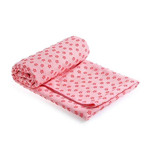 N / A Suministros Yoga Fitness Yoga Mat Slip Fabric Towel PVC Plum Blossom Yoga Wrap Towel Yoga Blanket Nuevo 183 * 63cm