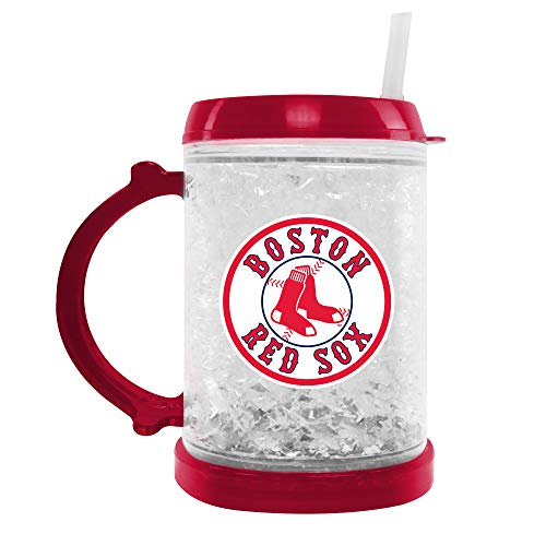 MLB Boston Red Sox Junior Crystal Freezer Mug | Double-Wall Insulation for Cold Drinks | Refreezable | BPA-Free | 6oz