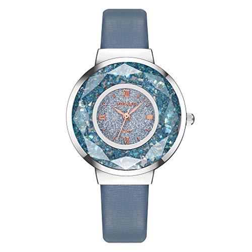 Rosennie Damen Armbanduhr Analog Quarz Uhr mit Leder-Armband Damenuhr Elegant Uhr Lederbanduhr Ultradünne Business Uhr Frauen Casual Sportuhr