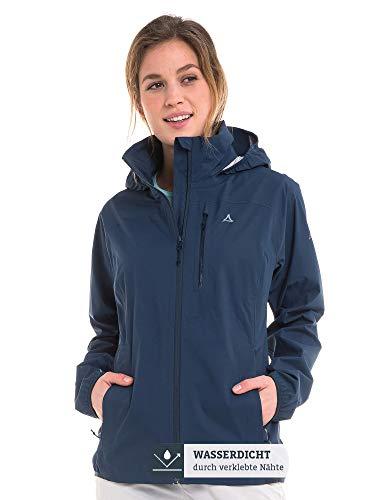 Schöffel Damen Jacket Neufundland4 wind- und wasserdichte Damen Jacke mit Pack-Away-Tasche, dress blues, 36