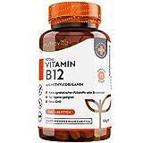 Vitamin B12 500mcg - Aktive Form Methylcobalamin - 365 Tabletten - Unabhängig Laborgetestet - OHNE unerwünschte Zusatzstoffe - VEGAN - Hochdosiert - 1 Jahresvorrat