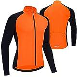 Primavera Verano Maillot Ciclismo Hombre Camiseta Ciclismo Manga Larga,Camiseta Ciclismo MTB,Ultralight Transpirable MTB Camisa,para Deportes y al Aire Libre Ropa Bicicleta(Size:L,Color:Naranja)