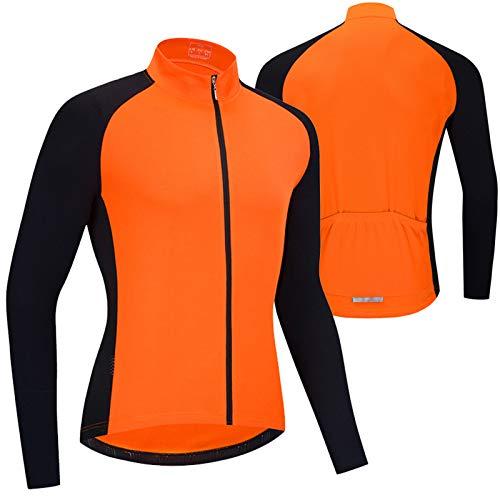 Primavera Verano Maillot Ciclismo Hombre Camiseta Ciclismo Manga Larga,Camiseta Ciclismo MTB,Ultralight Transpirable...