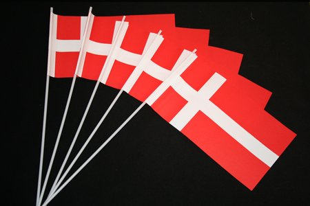 Everflag Papierfähnchen: Dänemark 50er Packung