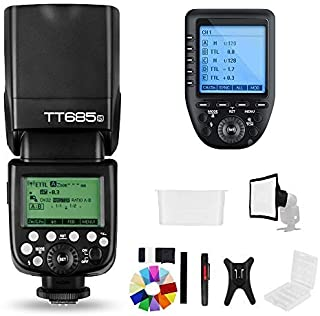 Godox TT685S 2.4G HSS TTL GN60 Flash Speedlite+ Xpro-S Trigger Transmitter Kit Compatible for Sony A58 A7RII A7II A99 A9 A...