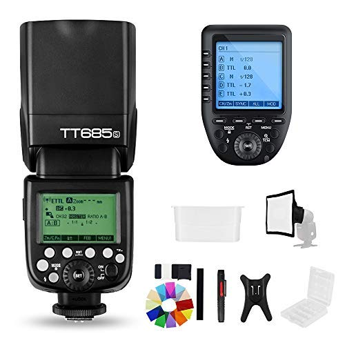 Godox TT685S 2.4G HSS TTL GN60 Flash Speedlite+ Xpro-S Trigger Transmitter Kit Compatible for Sony A58 A7RII A7II A99 A9...