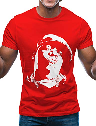 Swag Point Hip Hop Vintage Graphic T-Shirt - Urban Vintage Street wear Hipster Biggie Small Snoop Dogg Graphic t Shirts (Small, BIGGIE2-RED)