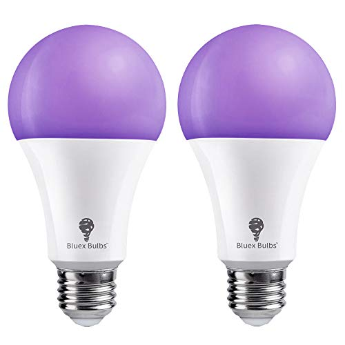 Bluex Bombillas LED A21, 16 W (equivalente a 120 W) E26, nivel de bombilla de luz negra, 385 a 400 nm, pintura corporal, brilla en la...