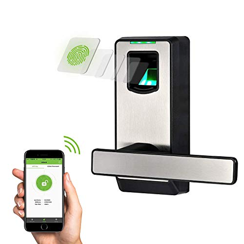 ZKTeco Biometric Door Lock Fingerprint Lock with Bluetooth,...