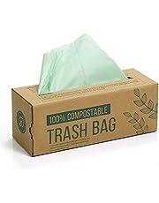 150 compost afvalzak, 6L 8L 10L afvalzak voor keukenafval, 100% afbreekbare afvalzak is gemaakt van maïszetmeel met de certificering volgens de EN13432