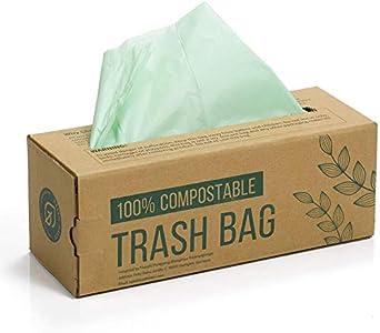 Green Maker 150 Bolsas Compost Liners Bolsas para residuos de Cocina de 6L, 8L, 10L Bolsas 100% biodegradables Hechas de almidón de maíz con Certificación EN13432 (8L)