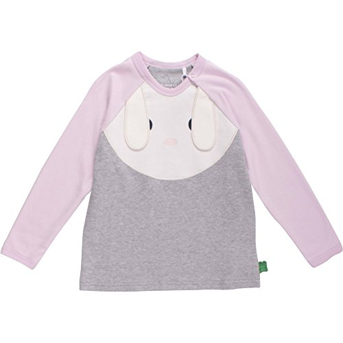 Green Cotton Fred's World by Green Cotton Baby-Mädchen Bunny Front T Bluse, Grau (Pale Greymarl 207670000), 74