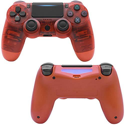 Manette de jeusans filPDTZpour manette de jeu pour système de jeu PS4 Ps4 GamepadClear Red