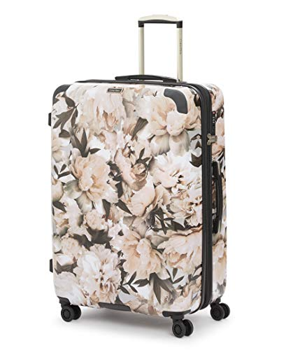 Calvin Klein Studio Terrace Hardside Spinner Luggage with TSA Lock, Floral/White, 28 Inch