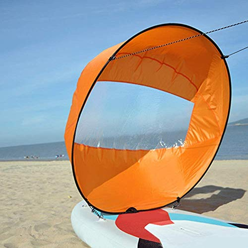 "Crovida 42""/108cm Kajak Segel Stand Up Paddle Kayak Sail Faltbar Windsegel für Kajaks, Kanus, Schlauchboote, Tandems, Expeditionsboote (Orange)"