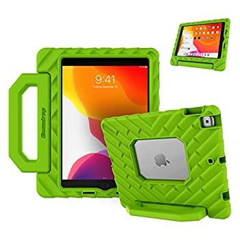 GumDrop FoamTech Case for The Apple iPad 8G /7G 10.2 inch  2021  Tablet for School and Office Use- Lime Green Rugged EVA Foam Shock Absorbing with Handle and Stand