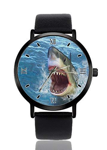 Shark - Reloj de pulsera para mujer con correa negra y correa de cuarzo