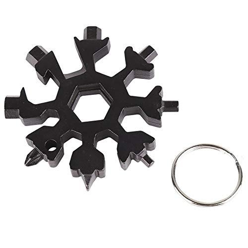 Annly Multi-Tool 19-in-1 Schneeflocken Tragbares Edelstahl-Multifunktionswerkzeug für Outdoor-Abent, Geschenke für Männer