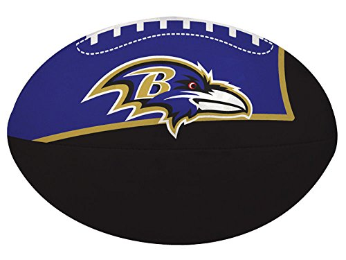 NFL Baltimore Ravens Kids Quick Toss Softee Football, Black, Small