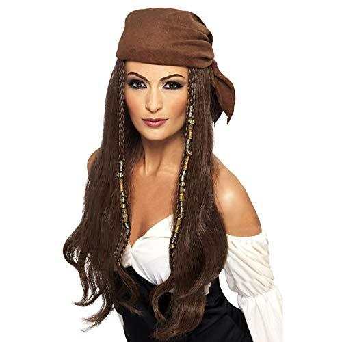Halloween Adult Fancy Party Jurk Dames Piraat Pruik Kostuum Met Bandana