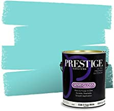 Prestige Paints E500-D-MQ4-22 Exterior Paint and Primer in One, 1-Gallon, Semi-Gloss, Comparable Match of Behr Key