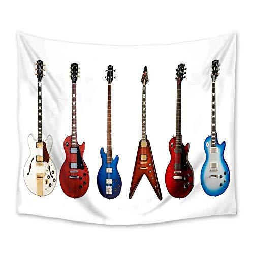 Tapices de guitarra eléctrica decoración de pared colcha de arte de pared manta ropa de cama mantel muebles alfombra de Yoga 150x200cm/59*79inch
