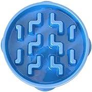 Outward Hound Fun Feeder Slo-Bowl Healthy Slow Feeding Dog Bowl, Small, Blue