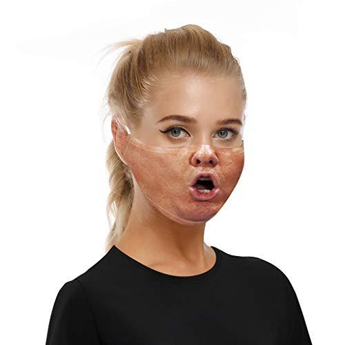 Erwachsene männliche und weibliche Lustige atmungsaktiver Stoff, Wiederverwendbare Outdoor Unisex, Baumwolle Soft für Radfahren Anti-Staub Gesichts (S1, 18×13 cm)